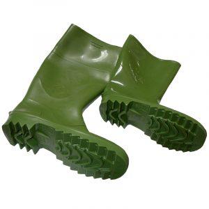 Bota de goma media caña verde 2