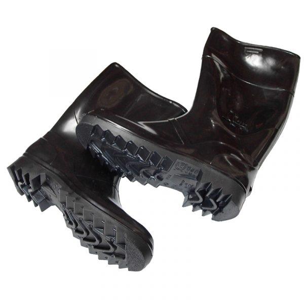 Bota de goma alta negro 3