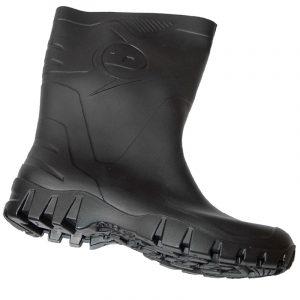 Bota de goma media caña Dunlop negro 500011